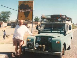 Tom Parkes driving across Africa